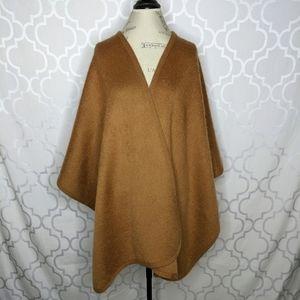 Cashmere Tan Brown Blanket Shawl Scarf